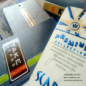 Embossed Printed Tags